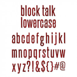 Wykrojnik Bigz XL - Sizzix - Alphabet block talk lowercase