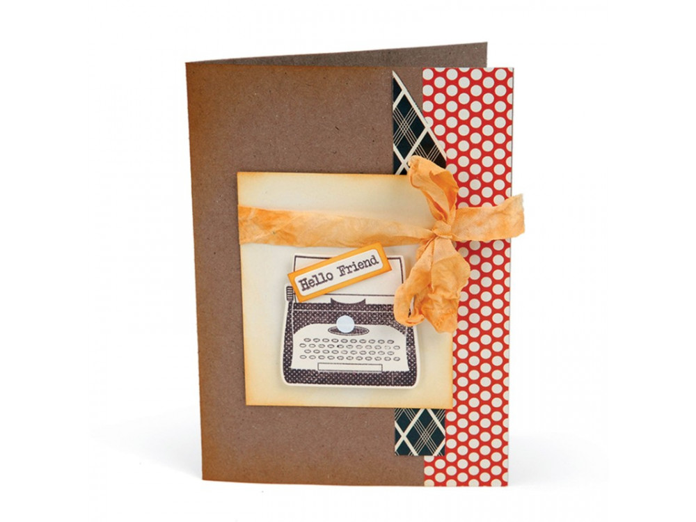 Sizzix Framelits Die Set 4PK w/Stamps - Noted