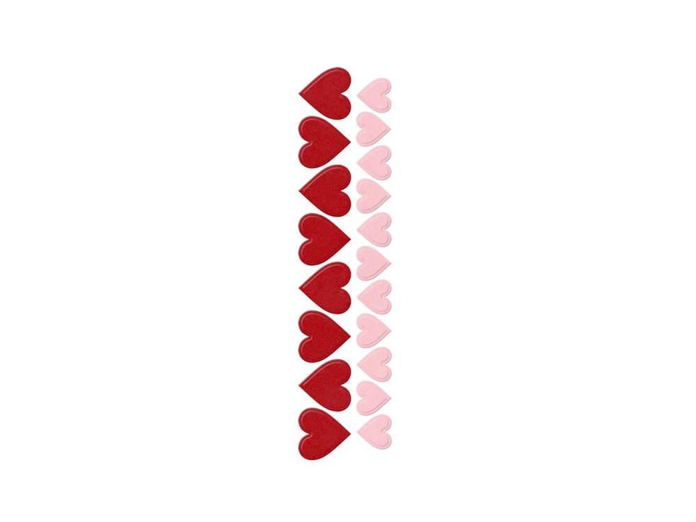 Zestaw wykrojników - We R - Hearts, serca