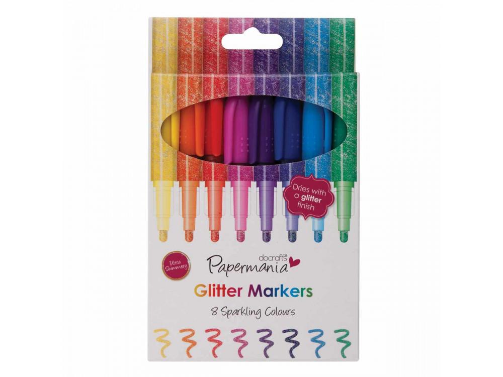 Glitter Markers (8pk) - Papermania