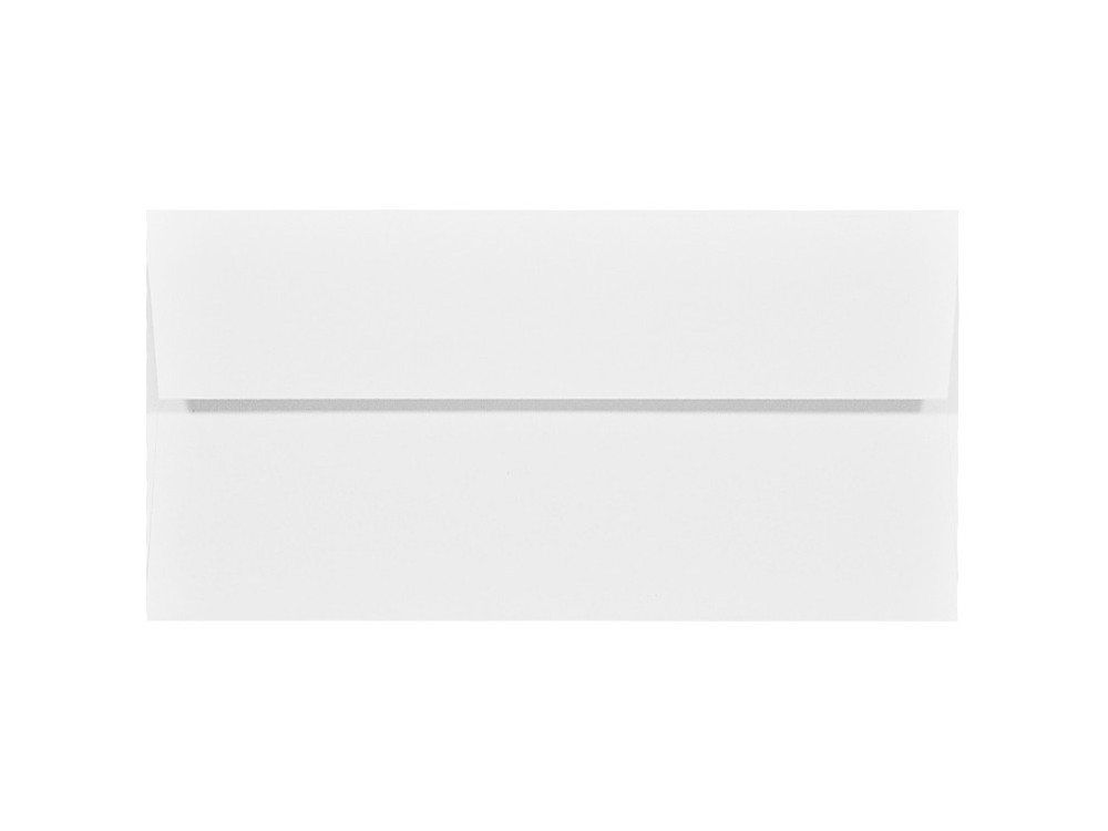 Acquerello textured envelope 120g - DL, Bianco, white