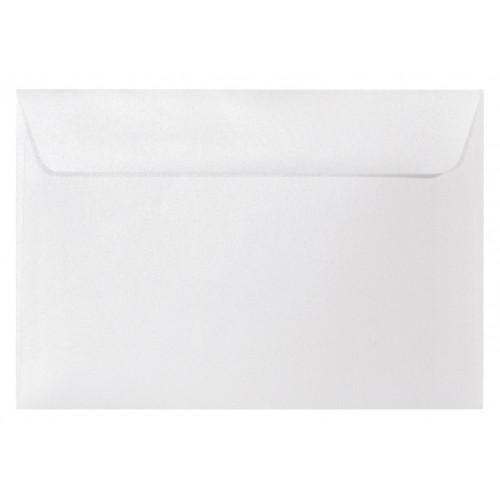 Koperta perłowa Majestic 120g C5 Marble White, biała