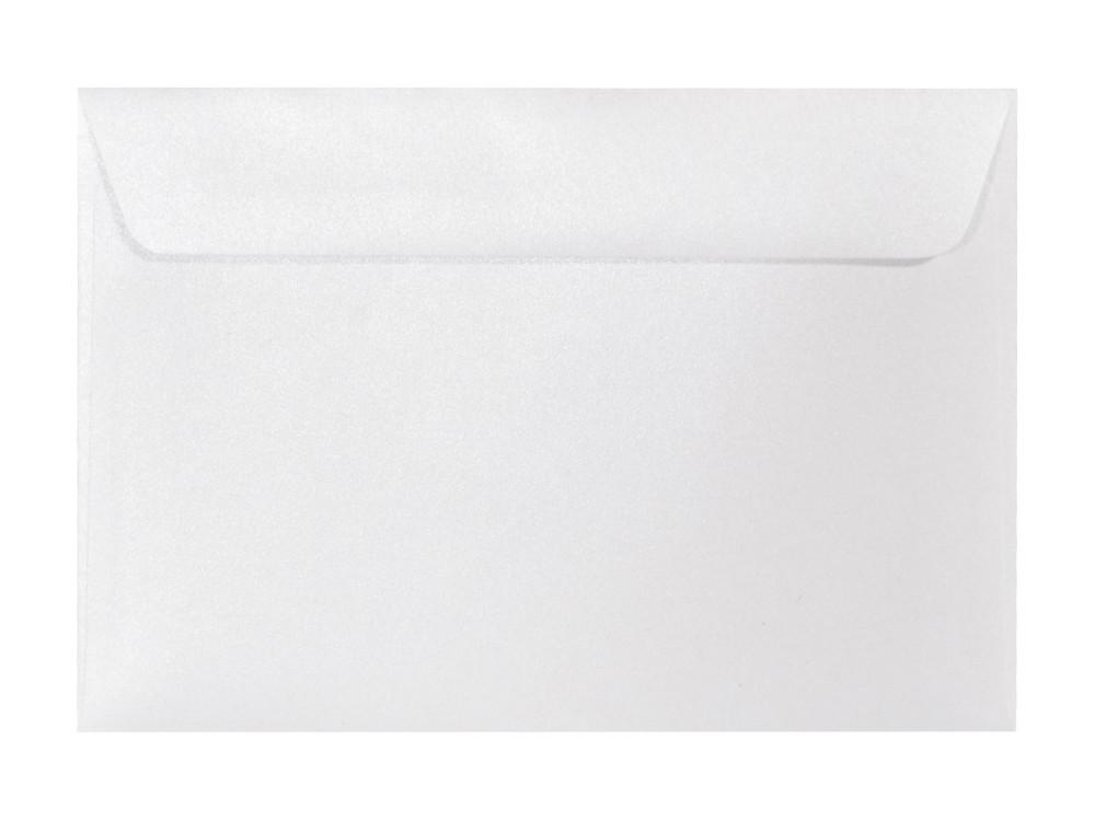 Koperta perłowa Majestic 120g - C5, Marble White, biała