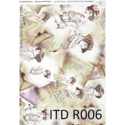 Papier do decoupage A4 - ITD Collection - ryżowy, R006