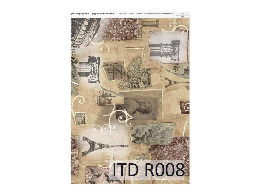 Decoupage paper A4 - ITD Collection - rice, R008
