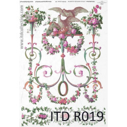 Decoupage paper A4 - ITD Collection - rice, R019