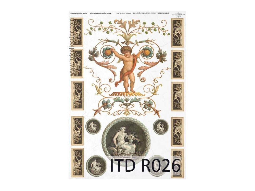 Papier do decoupage A4 - ITD Collection - ryżowy, R026
