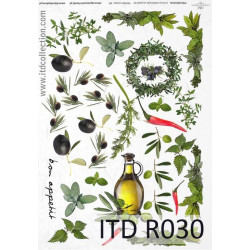Papier do decoupage A4 - ITD Collection - ryżowy, R030
