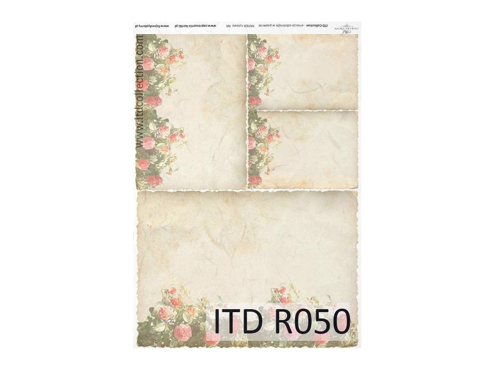 Decoupage paper A4 - ITD Collection - rice, R050