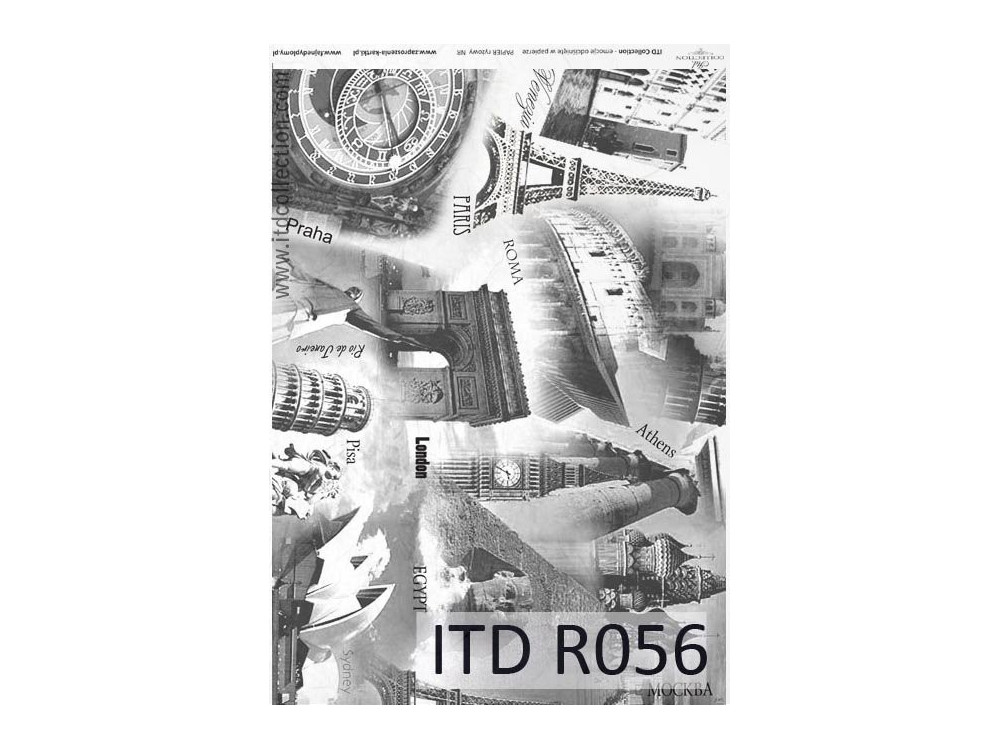 Decoupage paper A4 - ITD Collection - rice, R056