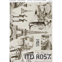 Decoupage paper A4 - ITD Collection - rice, R057