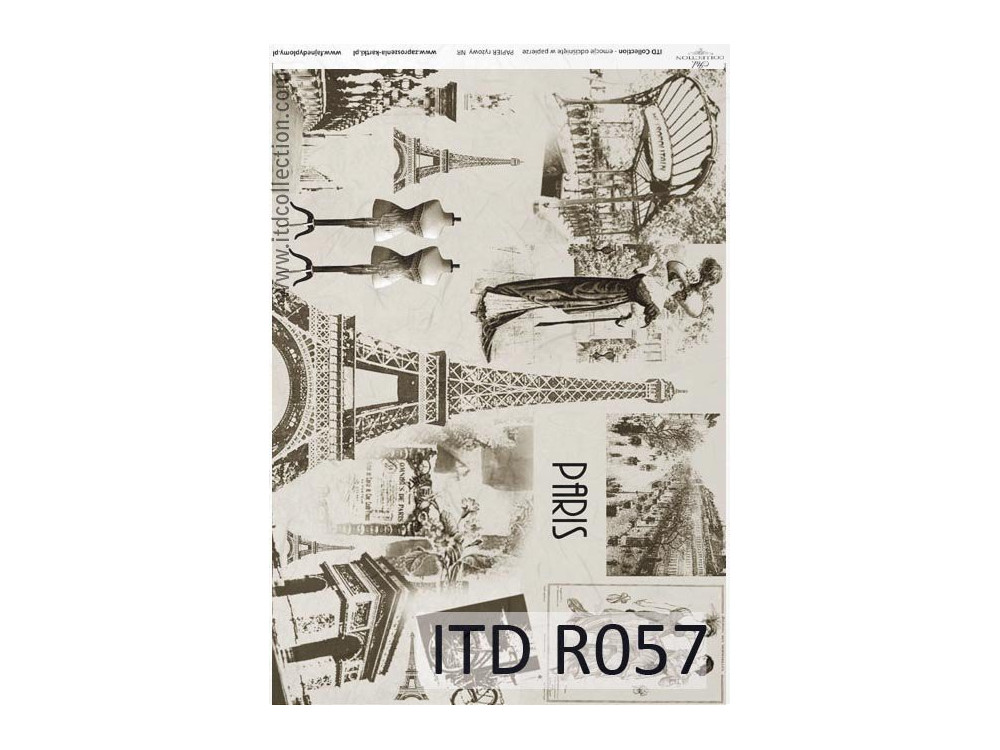 Papier do decoupage A4 - ITD Collection - ryżowy, R057