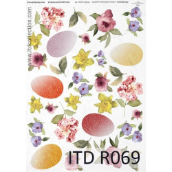 Decoupage paper A4 - ITD Collection - rice, R069