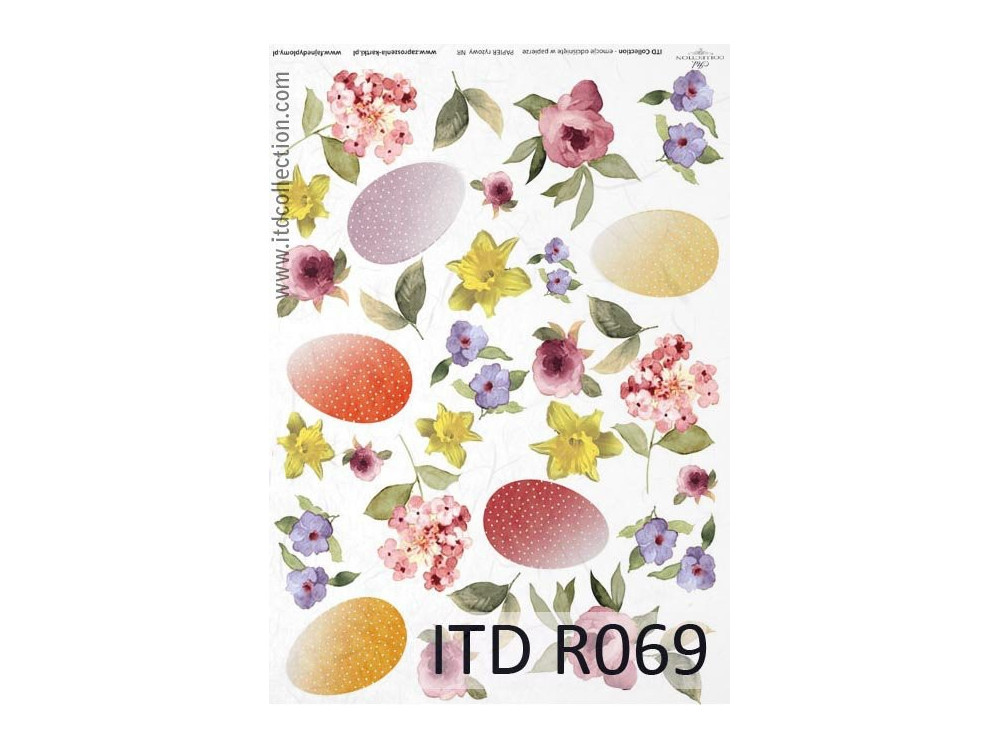 Papier do decoupage A4 - ITD Collection - ryżowy, R069