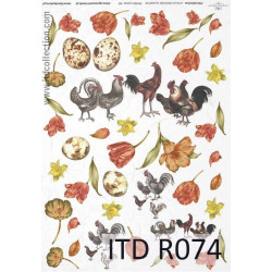 Papier do decoupage A4 - ITD Collection - ryżowy, R074