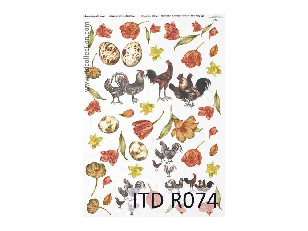 Decoupage paper A4 - ITD Collection - rice, R074