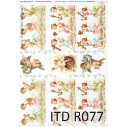 Papier do decoupage A4 - ITD Collection - ryżowy, R077