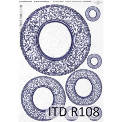 Papier do decoupage A4 - ITD Collection - ryżowy, R108
