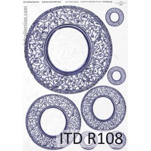 Papier ryżowy A4 decoupage R108