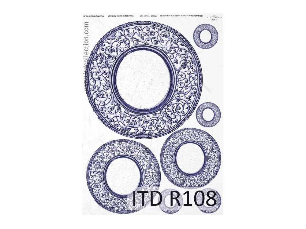 Decoupage paper A4 - ITD Collection - rice, R108