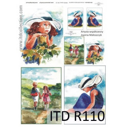 Papier do decoupage A4 - ITD Collection - ryżowy, R110