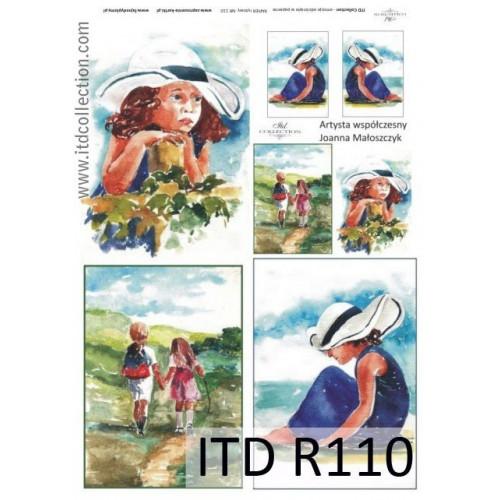 Papier ryżowy decoupage ITD R110