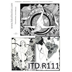 Papier do decoupage A4 - ITD Collection - ryżowy, R111