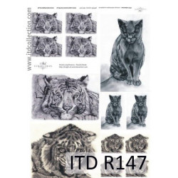 Decoupage paper A4 - ITD Collection - rice, R147