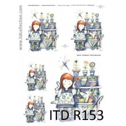Papier do decoupage A4 - ITD Collection - ryżowy, R153