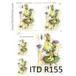 Decoupage paper A4 - ITD Collection - rice, R155