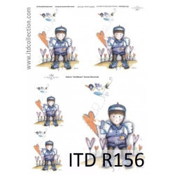 Papier do decoupage A4 - ITD Collection - ryżowy, R156