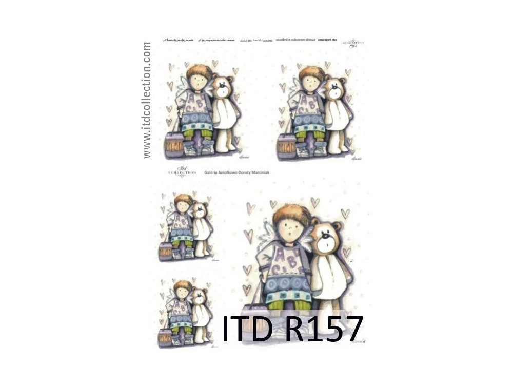 Decoupage paper A4 - ITD Collection - rice, R157