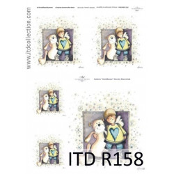 Papier do decoupage A4 - ITD Collection - ryżowy, R158