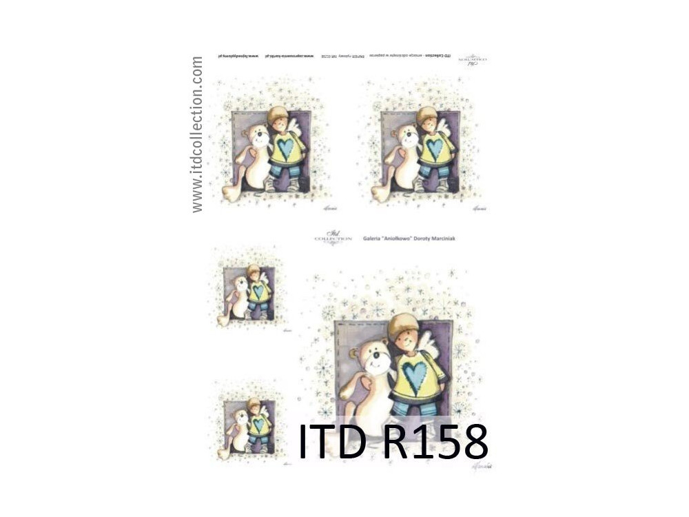 Decoupage paper A4 - ITD Collection - rice, R158
