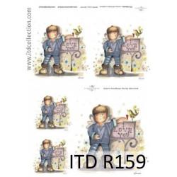 Decoupage paper A4 - ITD Collecion - rice, R159