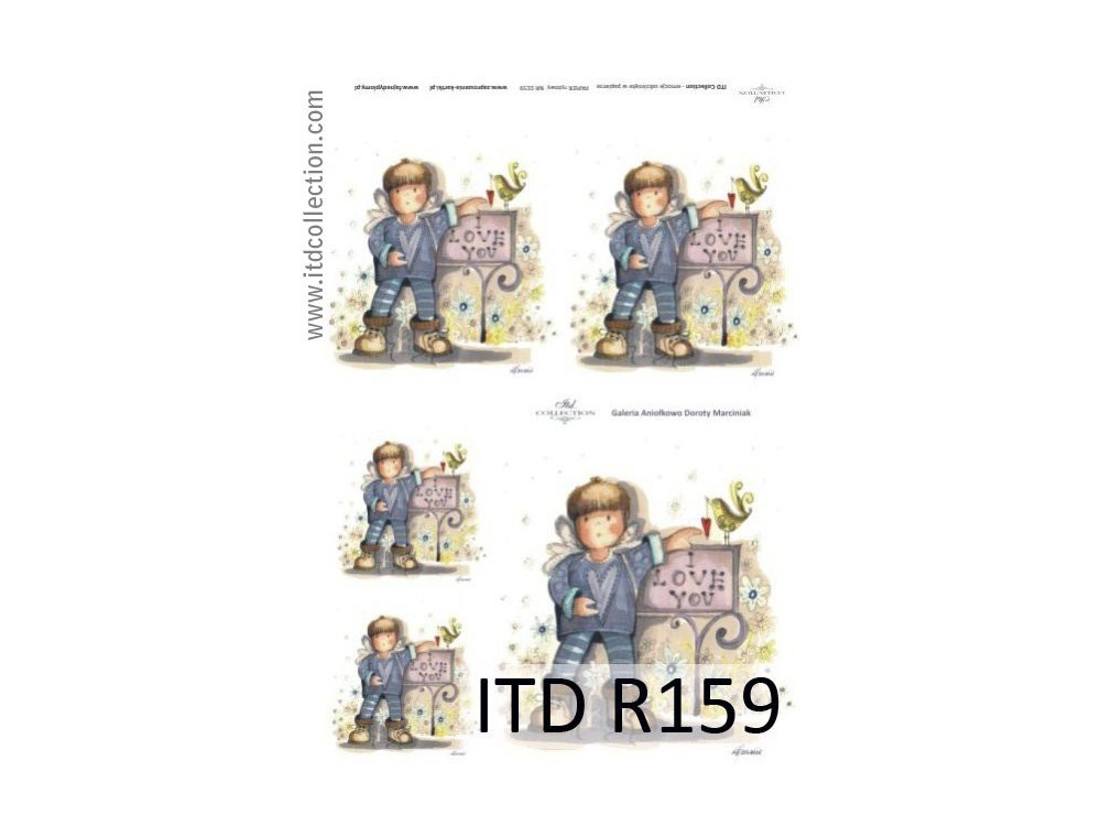 Papier do decoupage A4 - ITD Collection - ryżowy, R159