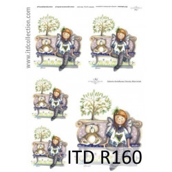 Decoupage paper A4 - ITD Collection - rice, R160
