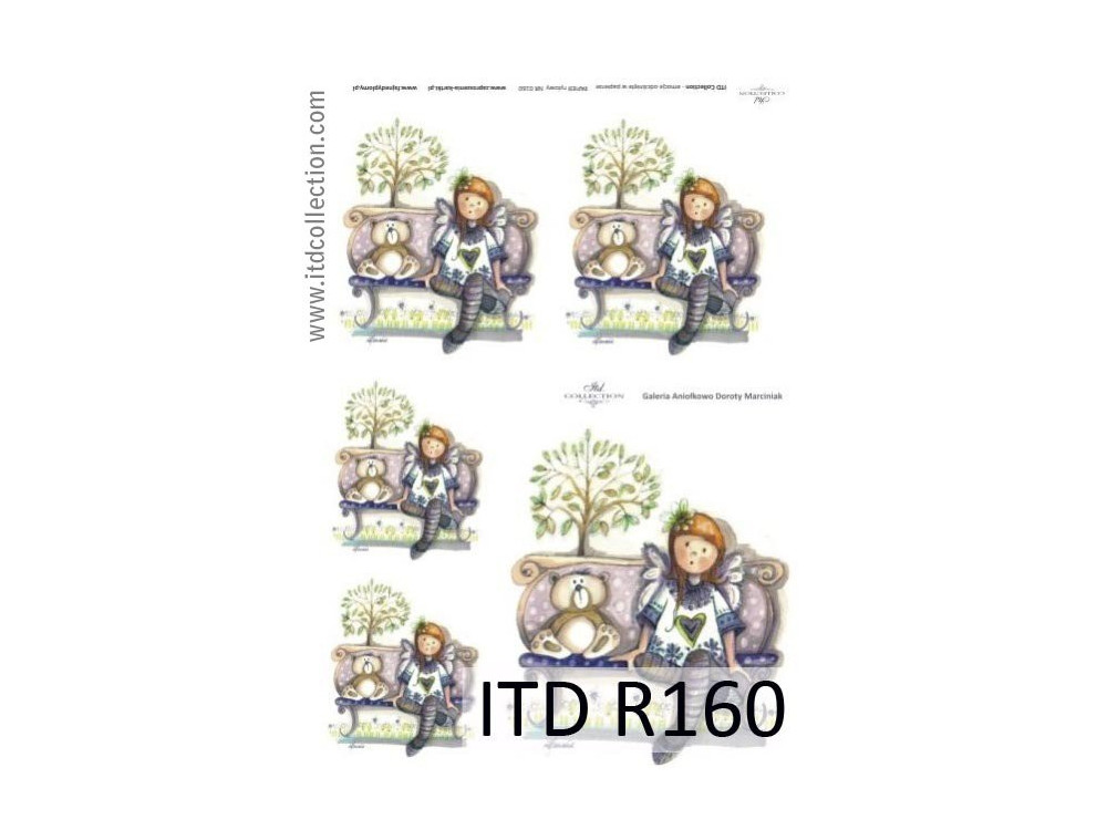 Papier do decoupage A4 - ITD Collection - ryżowy, R160