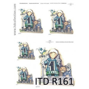 Papier ryżowy A4 decoupage R161