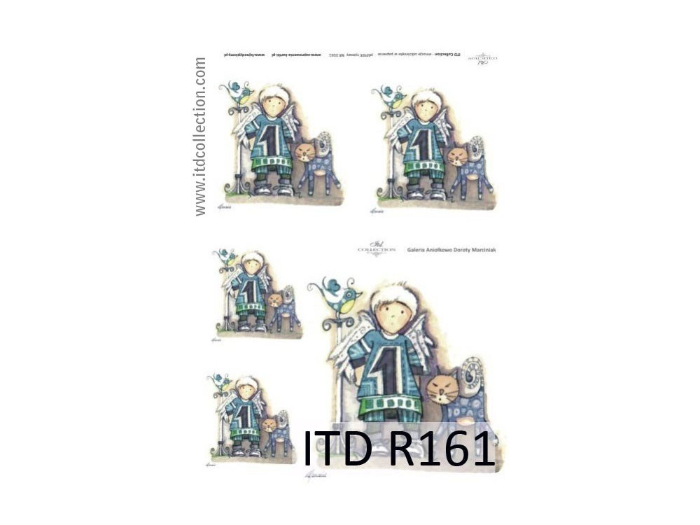 Decoupage paper A4 - ITD Collection - rice, R161