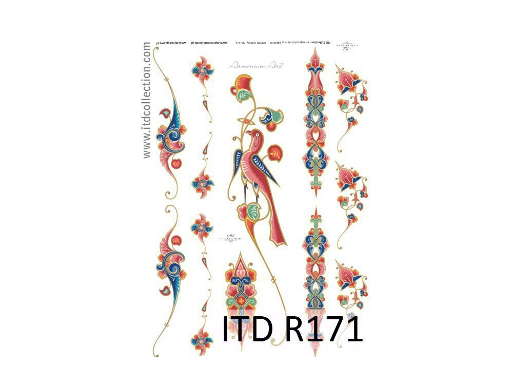 Decoupage paper A4 - ITD Collection - rice, R171