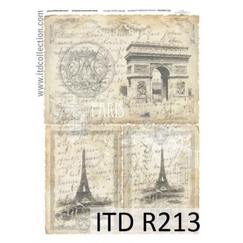 Papier ryżowy decoupage ITD R213