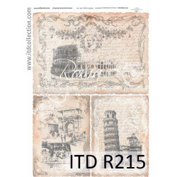 Decoupage paper A4 - ITD Collectin - rice, R215