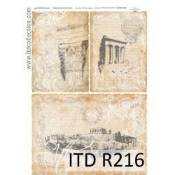 Papier do decoupage A4 - ITD Collection - ryżowy, R216