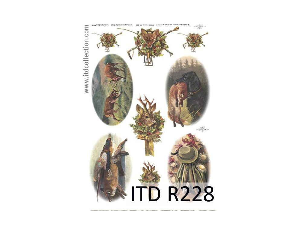 Papier do decoupage A4 - ITD Collection - ryżowy, R228