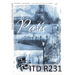 Decoupage paper A4 - ITD Collection - rice, R231