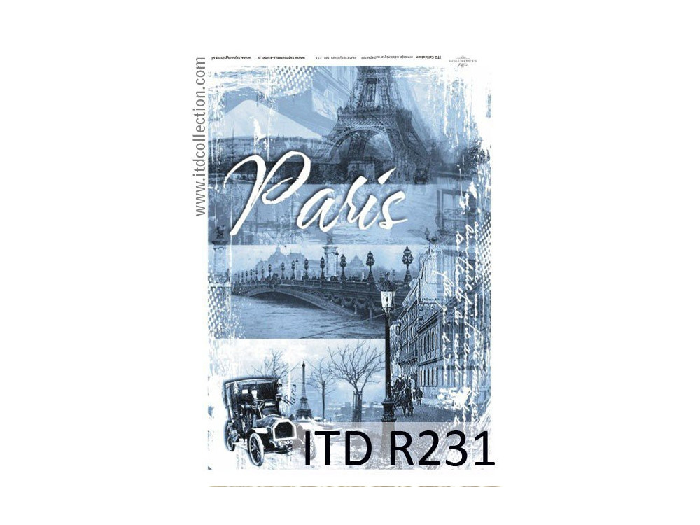 Papier do decoupage A4 - ITD Collection - ryżowy, R231