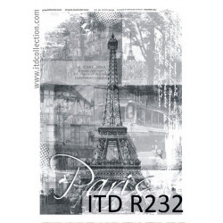 Decoupage paper A4 - ITD Collection - rice, R232