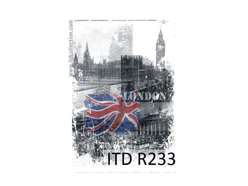Decoupage paper A4 - ITD Collection - rice, R233