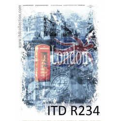 Decoupage paper A4 - ITD Collection - rice, R234